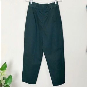 Zara Pants - Green Zara papaerbag waist pants